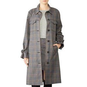 Derek Lam Grey Plaid Coat